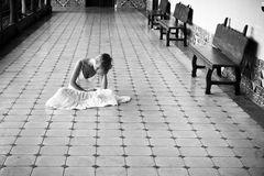 Woman on the floor Royalty Free Stock Photos