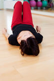 Woman on floor Royalty Free Stock Image