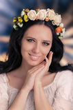 Woman with Floral Wreath Royalty Free Stock Image