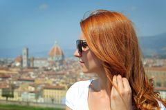 Woman in Florence Stock Images