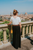 Woman in Florence royalty free stock photo