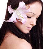 Woman with flower Stock Photography