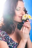 Woman with flower Royalty Free Stock Photography