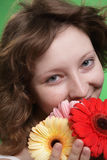 Woman with flower Royalty Free Stock Image