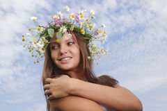 woman with flower Royalty Free Stock Images
