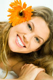 Woman with flower Stock Image