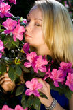 Woman in flower Royalty Free Stock Images
