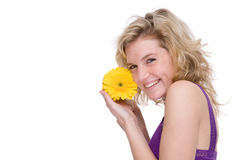 Woman with a flower Royalty Free Stock Photo