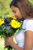 Woman flower flavor Stock Images