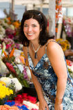 Woman Flower Shopping Royalty Free Stock Images