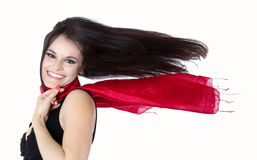 Woman with flowing hair Stock Photography