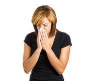 Woman with flu Stock Image