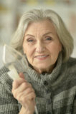 Woman with flu inhalation Royalty Free Stock Photo