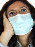 Woman with flu mask Stock Photos