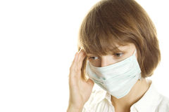 Woman With Flu Mask Royalty Free Stock Photos