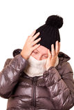 Woman With Flu And Severe Headache Stock Photo