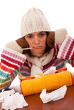 Woman with flu symptoms Stock Photo