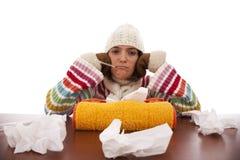 Woman with flu symptoms Stock Photos