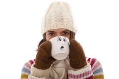 Woman with flu symptoms Stock Image
