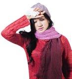 Woman With Flu Symptoms Royalty Free Stock Photo