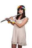 Woman Flutist Stock Images