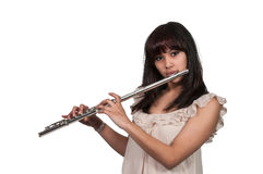 Woman Flutist Royalty Free Stock Image