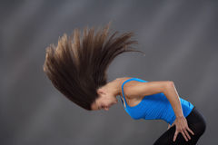 Woman with flying hair Royalty Free Stock Photography