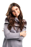 Woman with folded arms smiling. Stock Photography