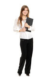 Woman with a folder Stock Photo