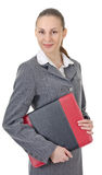 Woman with a folder Stock Image
