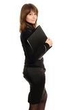 Woman with a folder Stock Images