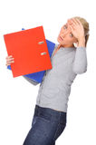 Woman with folder Stock Image