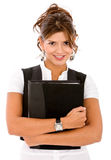 Woman with a folder Royalty Free Stock Images