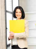 Woman with folder Stock Images