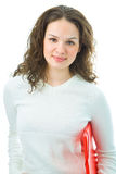 Woman with folder for document Royalty Free Stock Images