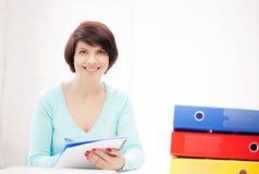 Woman with folders Stock Photos