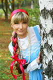 Woman in folk russian dress Royalty Free Stock Image