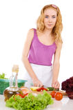 Woman with food ingredients Stock Photos