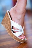 Woman foot Stock Images