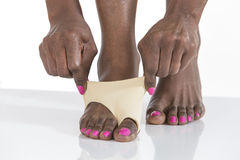Woman foot  bunion  protection Stock Images