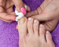 Woman foot in pedicure Royalty Free Stock Photos