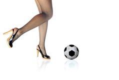 Woman football Royalty Free Stock Photos
