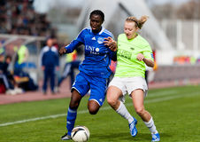 Woman football FF USV Jena - SG Essen-Schönebeck Stock Image