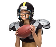 Woman football player Royalty Free Stock Photography