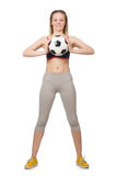 Woman football player Stock Images