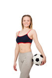 Woman football player Royalty Free Stock Images