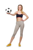 Woman football player Stock Photo