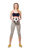 Woman football player Stock Image