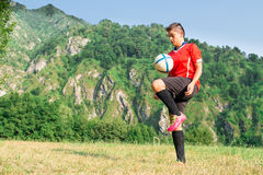 Woman footballer Royalty Free Stock Photo