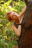 Woman in forest. She is the beaty woman in forest Royalty Free Stock Photos